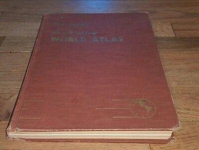 1958 Hammond's Library World Atlas Large Map Book Hardcover Maps Rare Collector