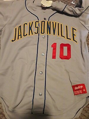 Vintage 1992 Jacksonville Suns Game Used Jersey #10 Seattle Mariners Farm Team