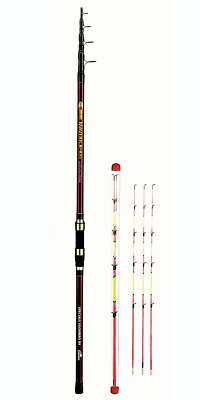 CARSON MAVERICK - High Quality Carbon Tele Surf and Beach Ledgering Rods - 4....