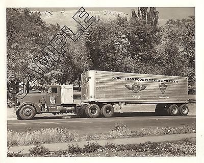 1949-1950s PETERBILT 350/360 ASBURY ARROWHEAD FREIGHT 8x10 Glossy B&W Photo