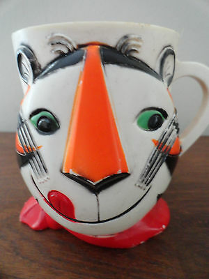 Vintage 1960's Tony the Tiger Hard Plastic Cup / Mug