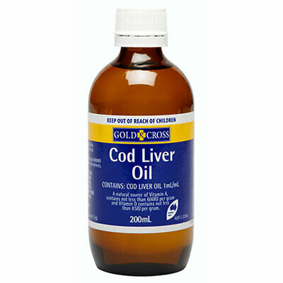 Gold Cross Cod Liver Oil 200Ml A Natural Source Of Vitamin A And Vitamin D