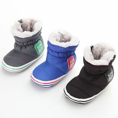 Toddler Baby Kid Casual Winter Warm Snow Boots Boy Girl Anti-Slip Crib Shoes New
