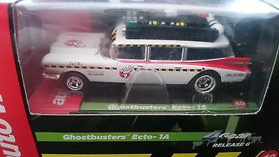 AFX autoworld ghost busters ecto-1 magnatraction 4 gear chassis sealed mint cond