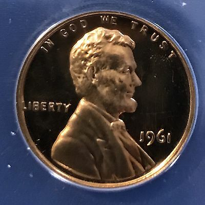 1961 Lincoln Cent 1C ANACS Proof PF66 CAMEO