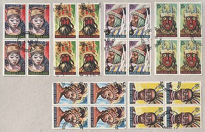 Guinea 1965 Traditional Masks Set of Stamps in CTO Blocks
