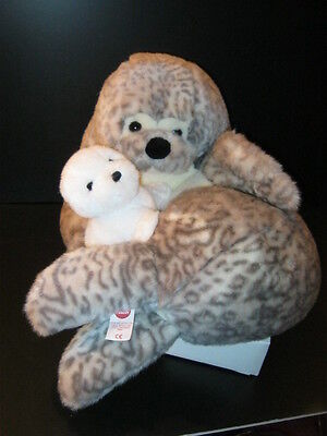 Vintage Plush Seal and Baby by Dakin's Elite Trudi Div- New- Last in Inventory