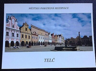 Postcard: Telc: The Protected Historical Town Area: Un Posted