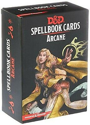 Dungeons & Dragons D&D 5E 5th Edition - Spellbook Cards (Arcane) New