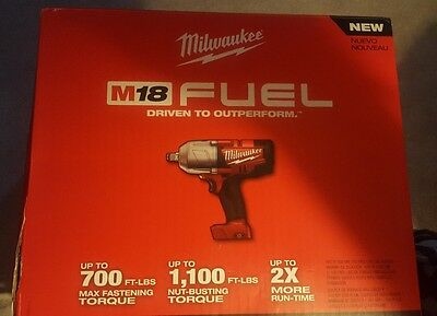 "NEW - Milwaukee 2763-20 18V Li-Iion 1/2"" High Torque Impact Wrench (TOOL ONLY)"