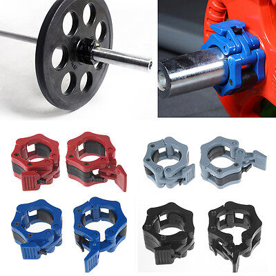 """Olympic 2"""" 50mm Weight Bar Collars Barbell Dumbbell Locking Spring Clamps Set UK"""