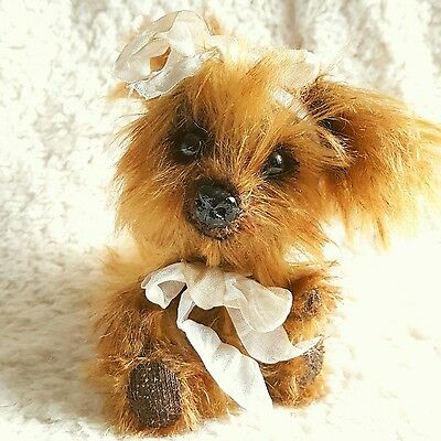 Miss Scruffy Pup Yorkshire Terrier mohair artist teddy Dog Dandelion Bears