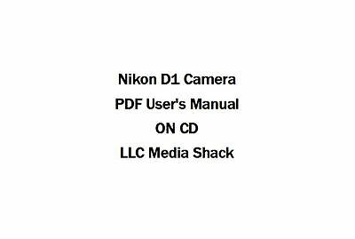 Nikon D1  Digital Camera PDF Users Owners Instruction Manual Guide on cd