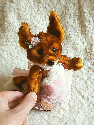 Miss Toscana Red Fox OOAK mohair  artist teddy doll Dandelion Bears