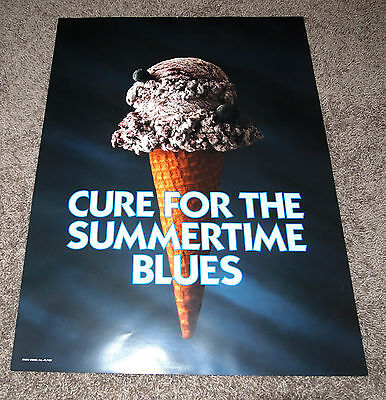 ICE CREAM TRUCK POSTER - CURE FOR THE SUMMERTIME BLUES  - SCOOP - ice cream ad