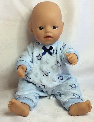 """Handmade Dolls Clothes To Fit 13""""  Little Baby Born -  Onsie/jumpsuit"""