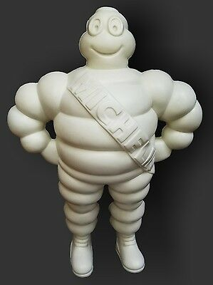 "Vintage 1980s Michelin Man Bibendum White Plastic 12"" Figurine Doll Collectible"