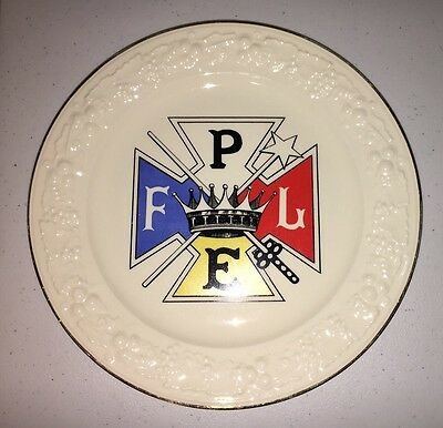 Vintage Knights of Pythias Collector's Plate Homer Laughlin Eggshell