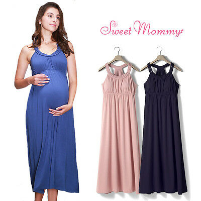 Vestito lungo premaman e allattamento Maternity and nursing maxi dress