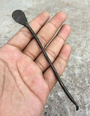 1800's EARLY ANTIQUE RARE HAND MADE COPPER DENTISTRY TOOL