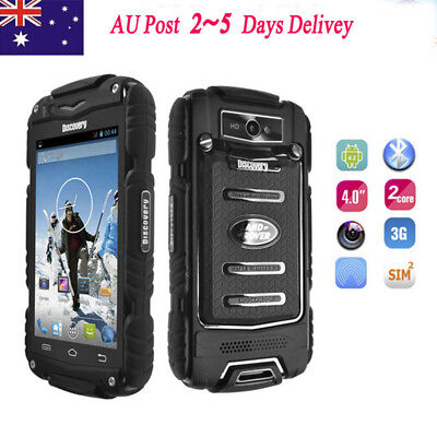 """AU Android Discovery V8 Rugged Mobile Phone 4G Rom Dual Core 4.0"""" SmartPhone 3G"""