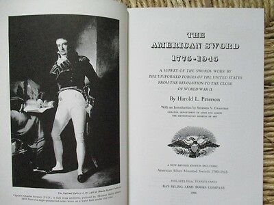 THE AMERICAN SWORD 1775-1945 by Peterson