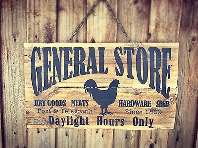 GENERAL STORE - Vintage Style Recycled Timber Sign
