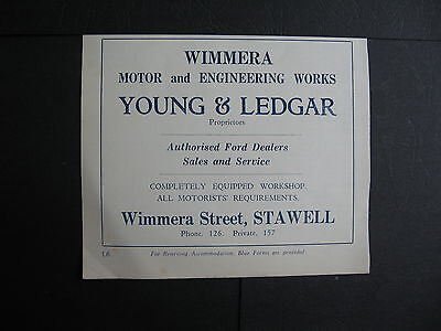 Wimmera Motor Works  Wimmera St Stawell  Young & Ledgar