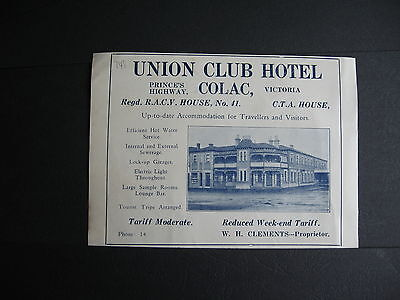 W Clements Union Club Hotel Colac