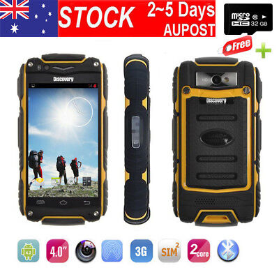 """4.0"""" Rugged 3G Android Smartphone Discovery V8 Dual Core/SIM Mobile Phone +32GB"""