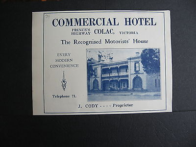 J Cody  Commercial Hotel   Colac