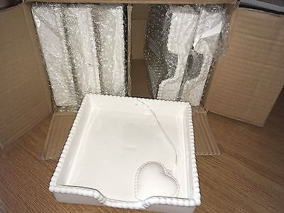 Gisela Graham Ceramic Napkin Holders - New with tags - Wholesale -Events-Wedding