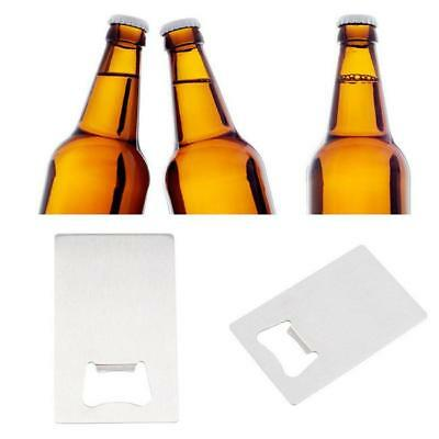 Smart BEER SODA Bottle Cap Opener Credit Card Size Stainless Steel Bar Tool Gift