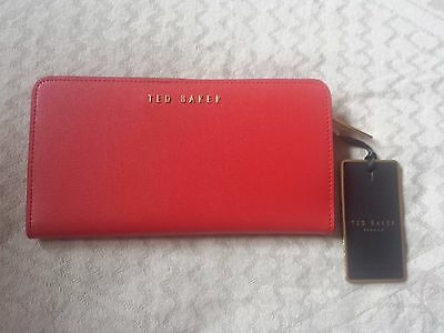 <Ted Baker> Helann Leather Matinee Purse BRIGHT RED New with tags