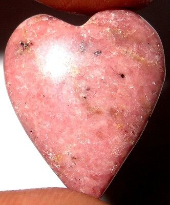 30Cts. Touch of Heart 100% Natural Rhodonite Heart Cabochon Gemstone 760