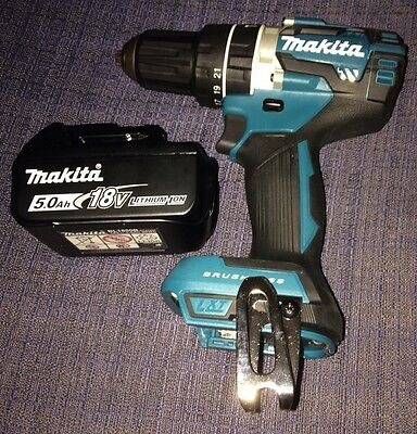 New Genuine Makita DHP484Z 18V Brushless Hammer Drill & BL1850B 5.0Ah Battery