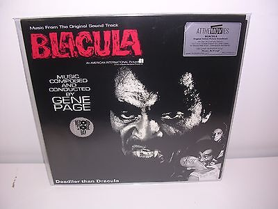 Rsd 2017: Gene Page - Blacula Soundtrack Numbered Ltd Red Vinyl Lp Mint
