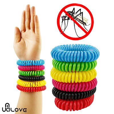 6X Highly effective Repellent Mosquito Waterproof  Natural Free Spiral Wrist Ban