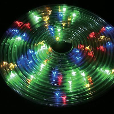 Outdoor Party Xmas 5M Solar Powered Rope String Light Strip Multi Coloured Led
