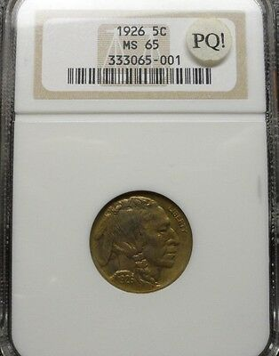 1926  Buffalo Nickel NGC MS65   COLOR