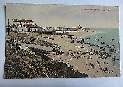 Muizenberg from The Rocks South Africa old postcard posted 1915