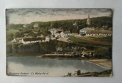 Dunmore Harbour Co Waterford Ireland old postcard
