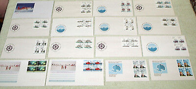 Blocks Of 4 Australian Antarctic Territory First Day Covers