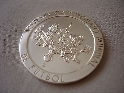 Mexico 1970 World Cup Solid Silver Commemorative Coin Medal