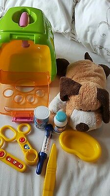 Childs Vet Set with Soft Dog, Carrier and accessories