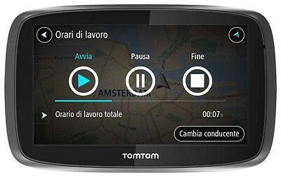 """Tomtom Pro 7250 Navigatore Gps Touch Screen 5"""" Pollici  Europa Life Maps"""