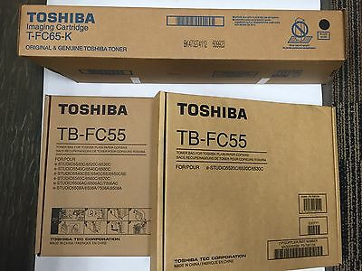 Toshiba T-FC65-K Imaging Cartridge And TB-FC55 Waste Toner Bag