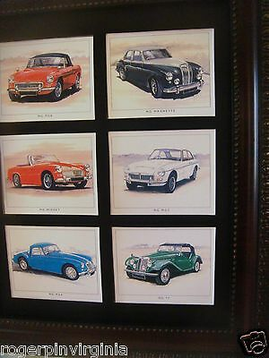 Mg   (Vintage Cars) - Reproduction Collectors Cards  In A Frame + Matte