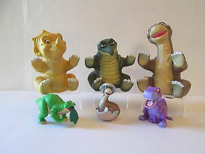 Land Before TIme 3 1988 Pizza Hut puppets two 1997 Burger King Cera Spike T-Rex