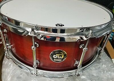 """DW pre COLLECTORS maple 6""""x14 tube lugs $$ SNARE DRUM ! Tough to find!"""